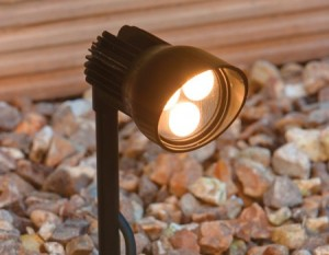 picture of a low voltage garden light