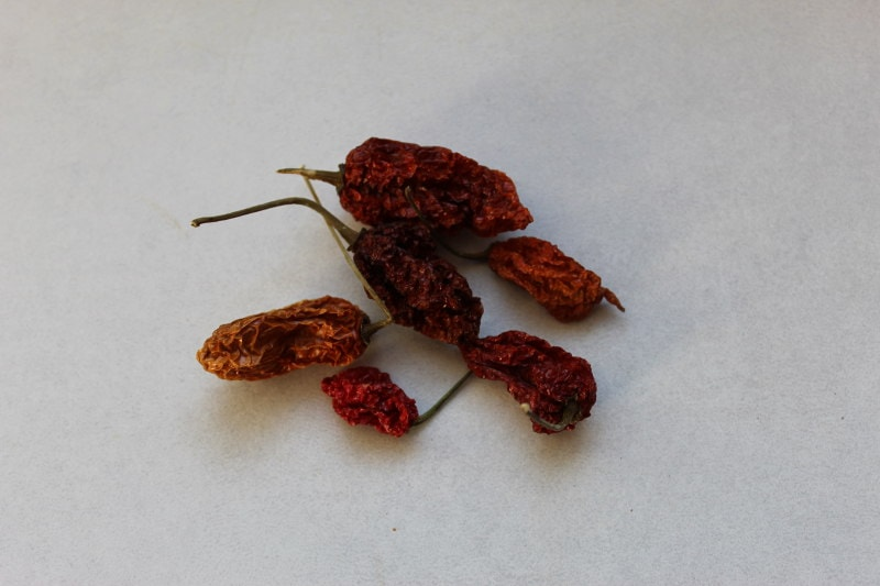 dried California Reaper chillies