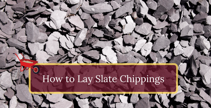 How to lay slate chippings in a garden setting